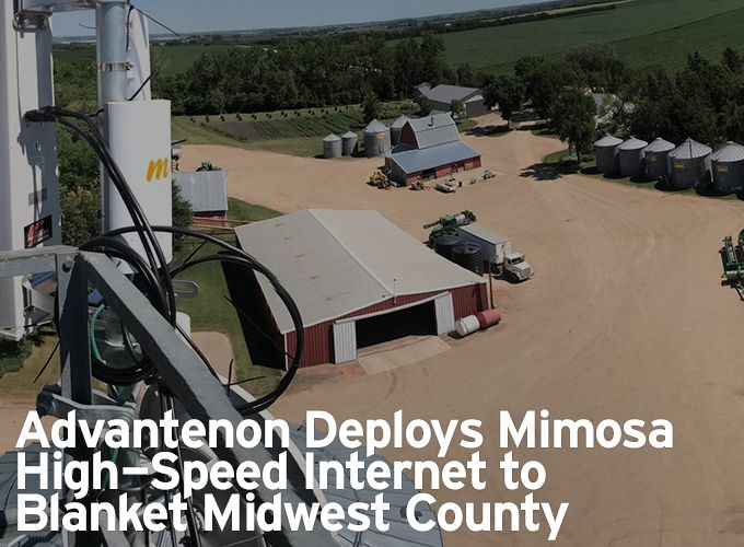 Advantenon Deploys Mimosa High-Speed Internet to Blanket Midwest County