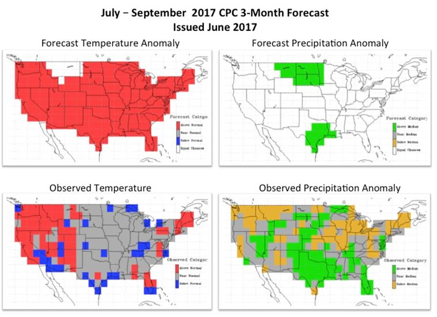 Three-month forecast